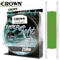 Linha Mono Fiber Soft - Verde - 250m - Crown