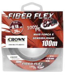 Linha Multi 8X Fiber Flex - 100m - Crown