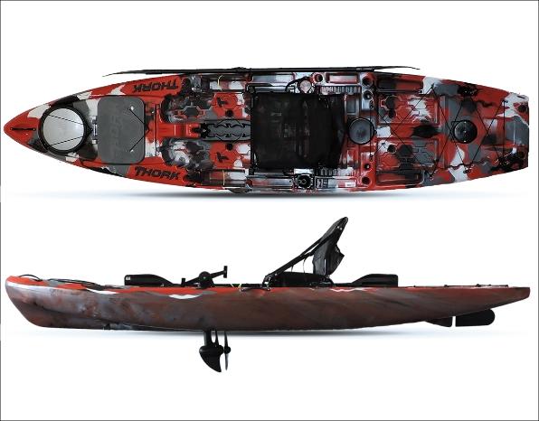 RS Pesca - Caiaque Thork com Leme - opção Pedal - Milha Náutica
